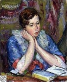 woman reading Anton-faistauer
